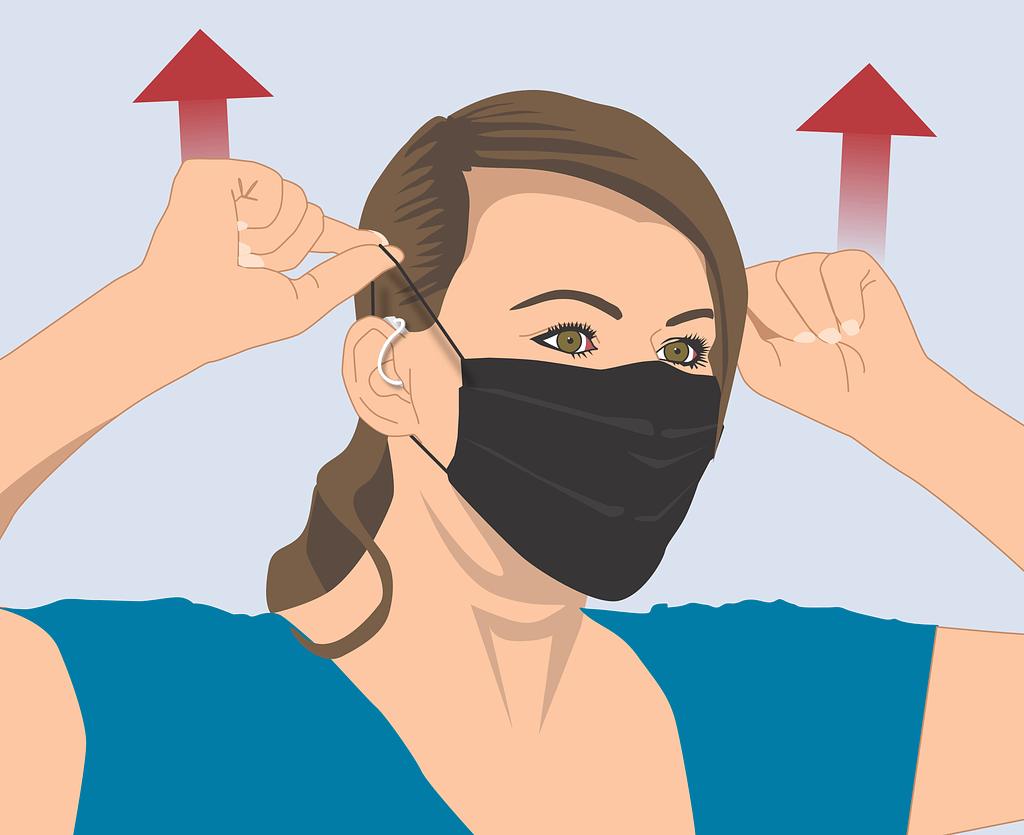 Mund-Nasen-Schutz mit Hörgerät richtig abnehmen