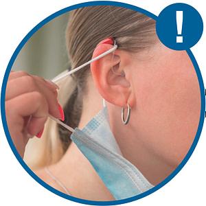 Vor Verlust des Hörsystems schützen - Mund-Nase-Schutz richtig abnehmen